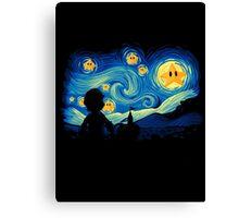 Starry Nights - Mario Edition Canvas Print
