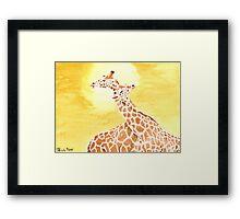 Daily Doodle 20- Entangled - Entangled Giraffes Framed Print