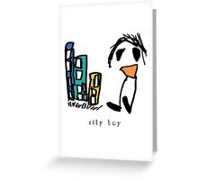 City Boy + type Greeting Card