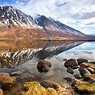 Winter reflections on Loch Etive, Argyll, Scotland by Dennis  Hardley