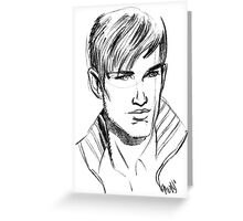 A&F Face Greeting Card