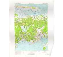 Massachusetts  USGS Historical Topo Map MA Hyannis 350225 1961 24000 Poster