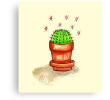 kawaii cactus Canvas Print