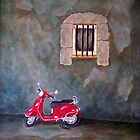 Red Vespa by Allegretto