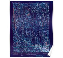 Massachusetts  USGS Historical Topo Map MA Blackstone 351550 1944 31680 Inverted Poster