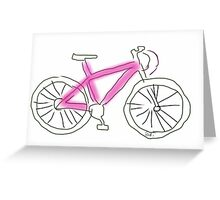 Pink bicycle Greeting Card