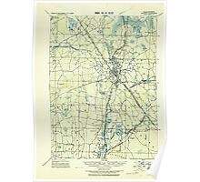 Massachusetts  USGS Historical Topo Map MA Taunton 353068 1918 62500 Poster