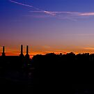 Night Falls on Battersea by Oli Johnson