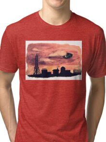 Welcome to Night Vale Silhouette  Tri-blend T-Shirt