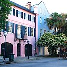 Rainbow Row in Charleston by Susanne Van Hulst