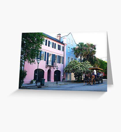 Rainbow Row in Charleston Greeting Card
