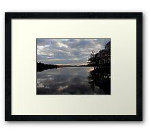 Gulladoo Lake at sunset Framed Print