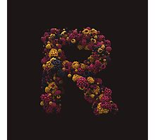 Fruity Alphabets - R Photographic Print