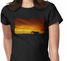 Rust Sky Womens Fitted T-Shirt