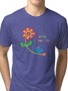 Cutie Patootie - on lights Tri-blend T-Shirt