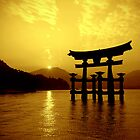 Sunset at Torii Gate by Erisgo