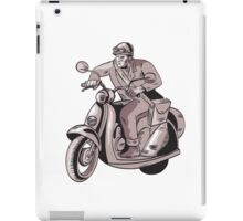 Messenger Riding Scooter Woodcut iPad Case/Skin