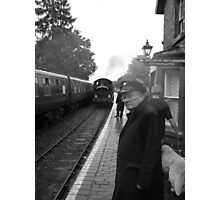 The Train Now Arriving Photographic Print