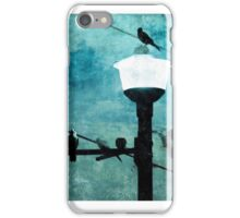 Birds On A Wire #1 iPhone Case/Skin