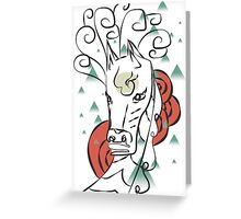 Horse In The Wind Greeting Card