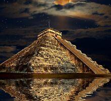 Chichen Itza Ancient Mayan Temple Art Poster by Skye Ryan-Evans
