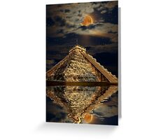 Chichen Itza Ancient Mayan Temple Art Poster Greeting Card