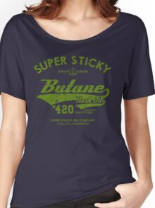 Retro Butane Hash Oil Women's Relaxed Fit T-Shirt