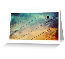 Birds On A Wire #3 Greeting Card