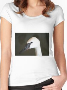 Trumpeter Swan Women's Fitted Scoop T-Shirt