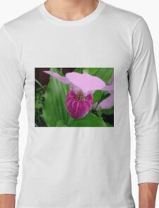 Pink Ladyslipper Long Sleeve T-Shirt