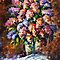 Flowers - original art oil painting by Leonid Afremov by Leonid  Afremov
