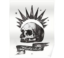 Chloe's Shirt - Misfit Skull Poster