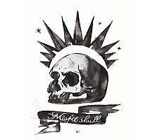 Chloe's Shirt - Misfit Skull Photographic Print