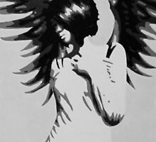 Girl with Angel Wings by Sarah McFloof