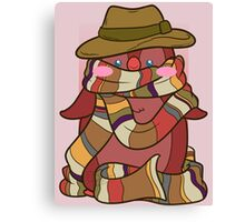 Fourth Doctor Penguin - Doctor Who Canvas Print