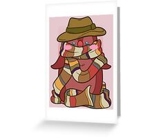 Fourth Doctor Penguin - Doctor Who Greeting Card