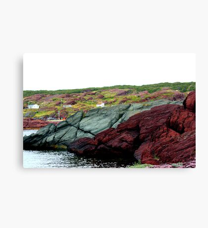 Red Rock Green Rock Canvas Print