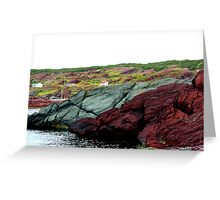 Red Rock Green Rock Greeting Card