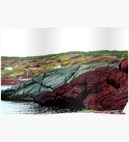 Red Rock Green Rock Poster