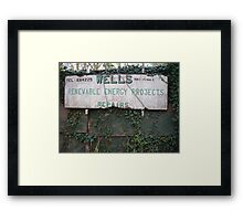 When technology fails… use rope. Framed Print