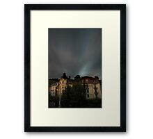 zurich_electric storm Framed Print