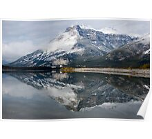 Peak Reflecting in Lac Des Arc, Canmore Area, Alberta, Canada Poster