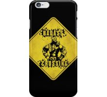 Wilhelm Badass Crossing (Worn Sign) iPhone Case/Skin