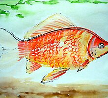 fish - watercolour by ChristineBetts