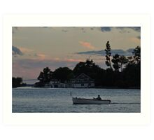 dusk falls upon the st. lawrence Art Print