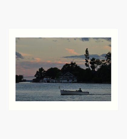 dusk falls upon the st. lawrence Art Print