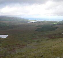Towards Brandon Bay,from Connor Pass,Co. Kerry,Ireland. by Pat Duggan