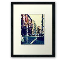 SoHo Street Corner Framed Print