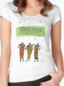 Friends Stand Beside You T-Shirt Women's Fitted Scoop T-Shirt