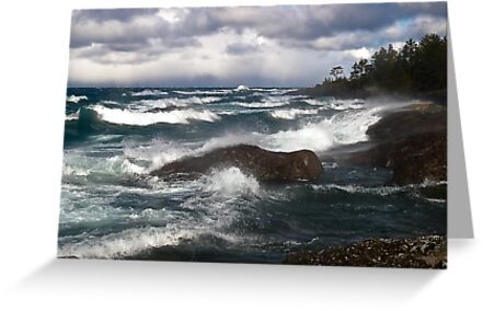 Turbulent Sea, Lake Superior Ontario Canada by Eros Fiacconi (Sooboy)